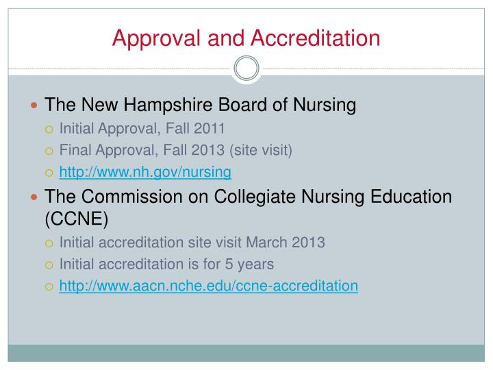 Approval and Accreditation