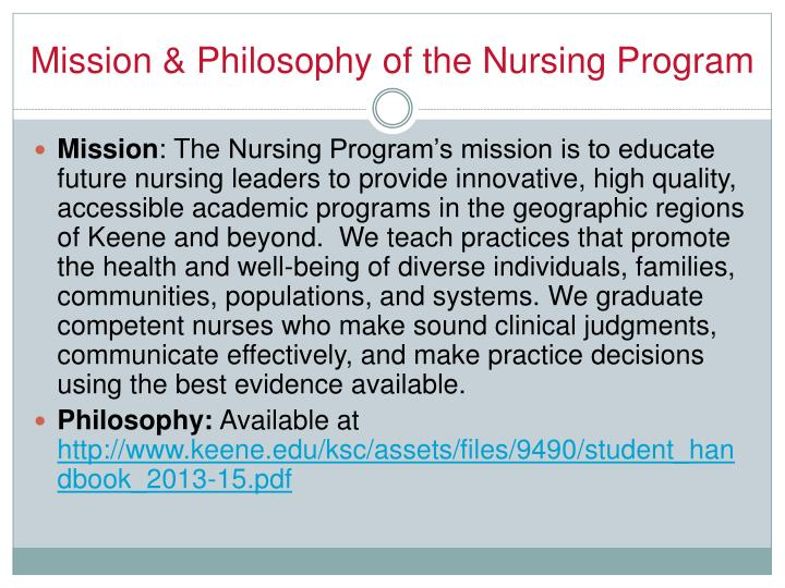 Mission & Philosophy of the Nursing Program