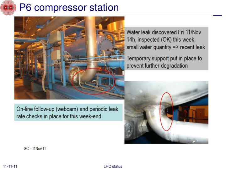 P6 compressor station