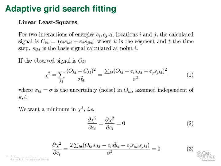 Adaptive grid search fitting