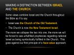making a distinction between israel and the church