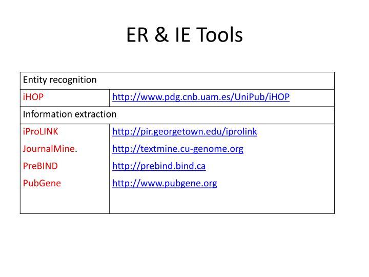 ER & IE Tools