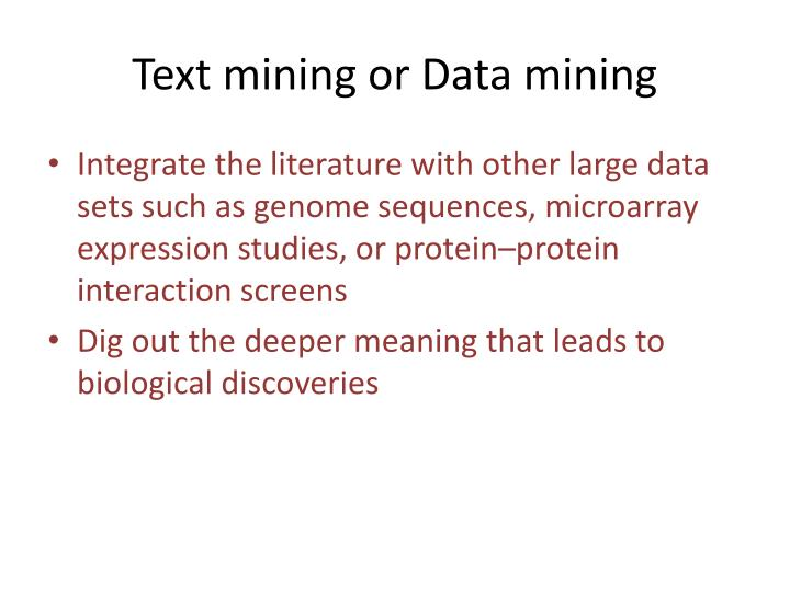 Text mining or Data mining