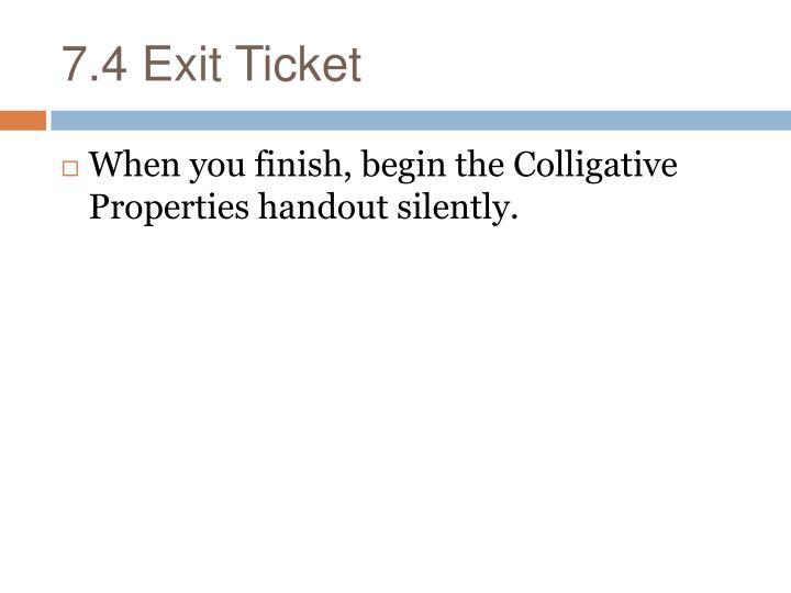 7.4 Exit Ticket