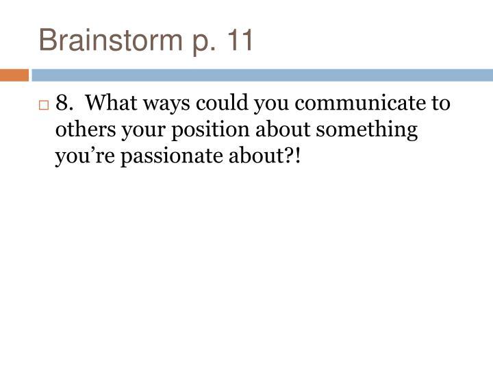 Brainstorm p. 11