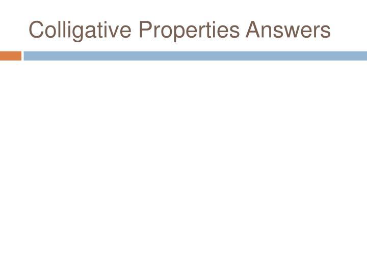 Colligative