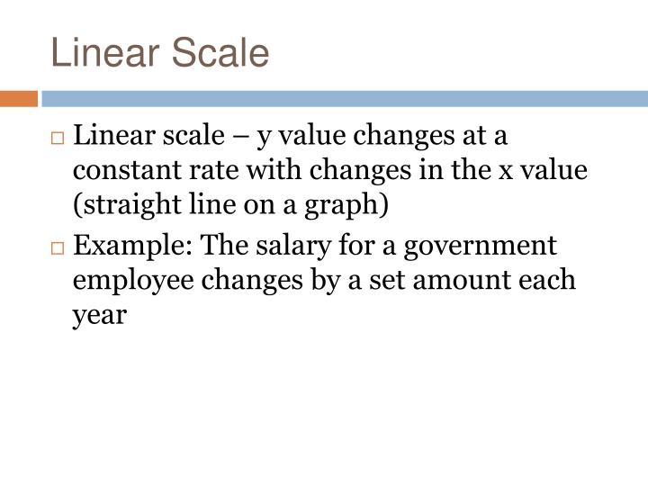 Linear Scale