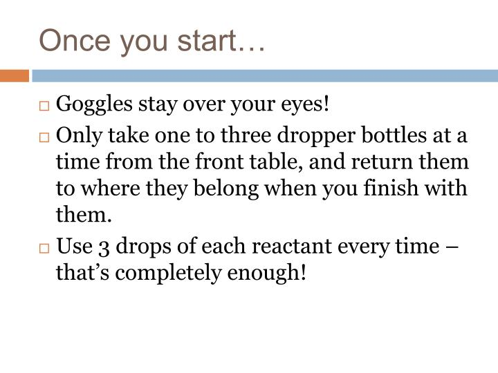 Once you start…