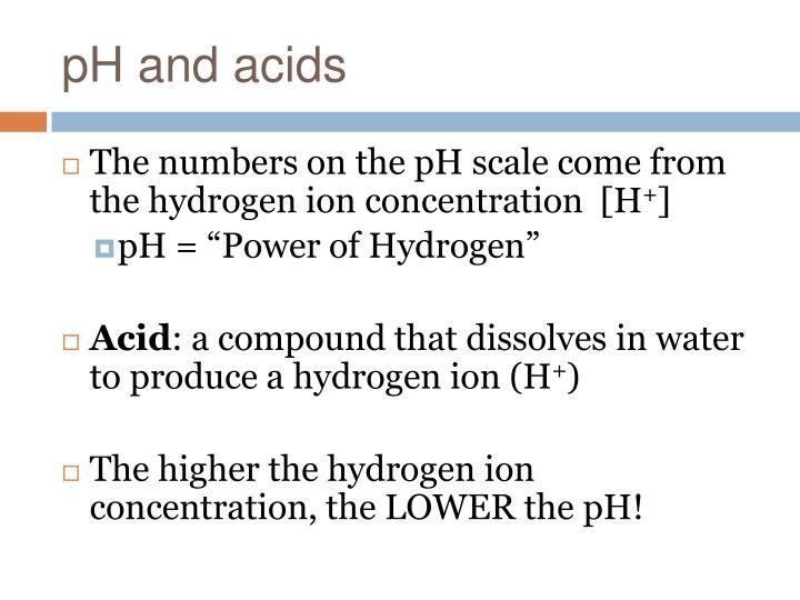pH and acids