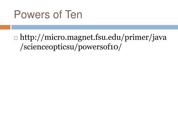 Powers of Ten