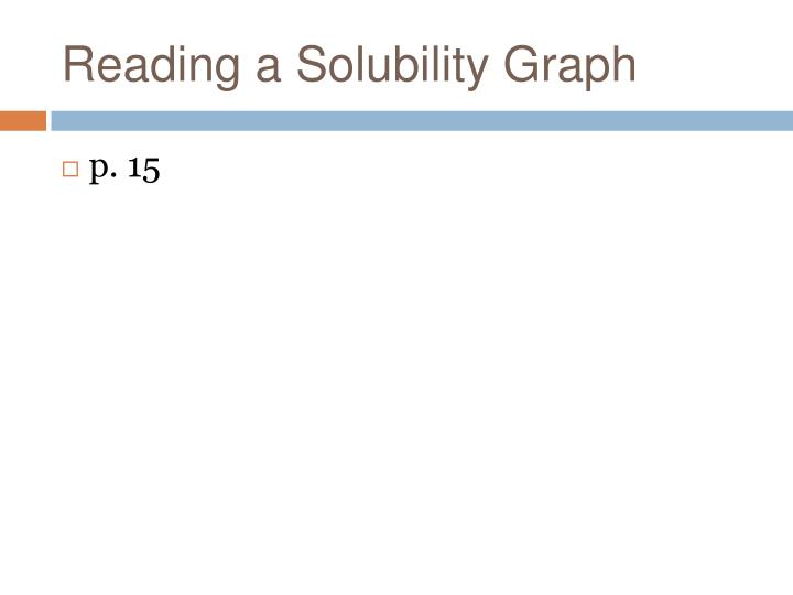 Reading a Solubility Graph