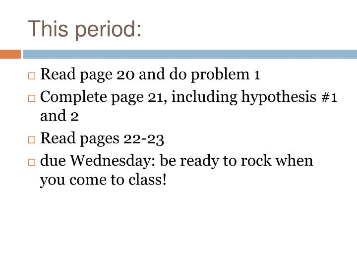 This period:
