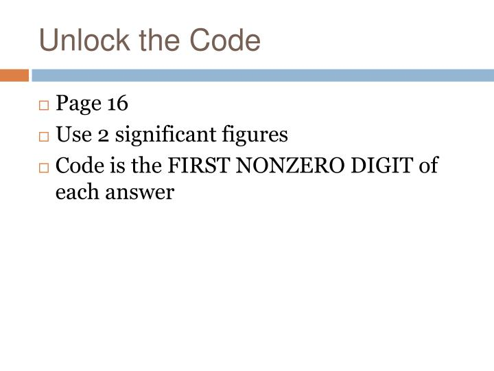 Unlock the Code