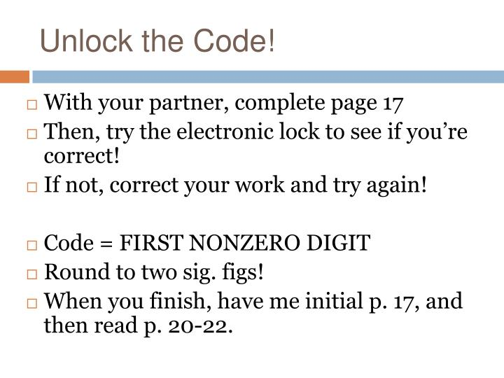 Unlock the Code!