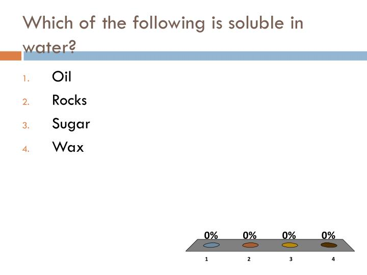 Which of the following is soluble in water?