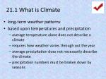 21 1 what is climate