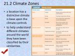 21 2 climate zones
