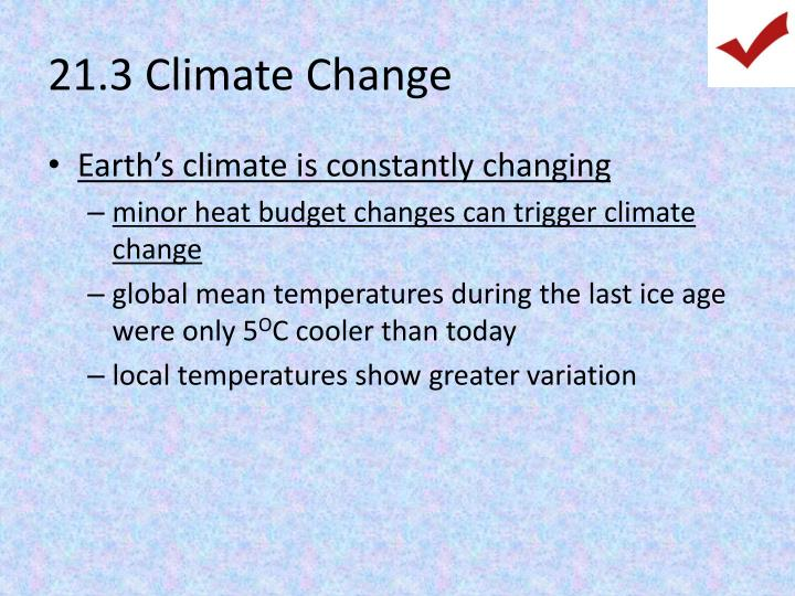 21.3 Climate Change