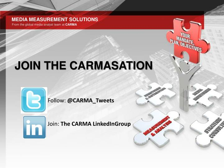 JOIN THE CARMASATION