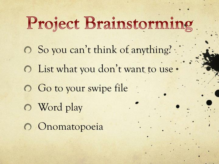 Project Brainstorming