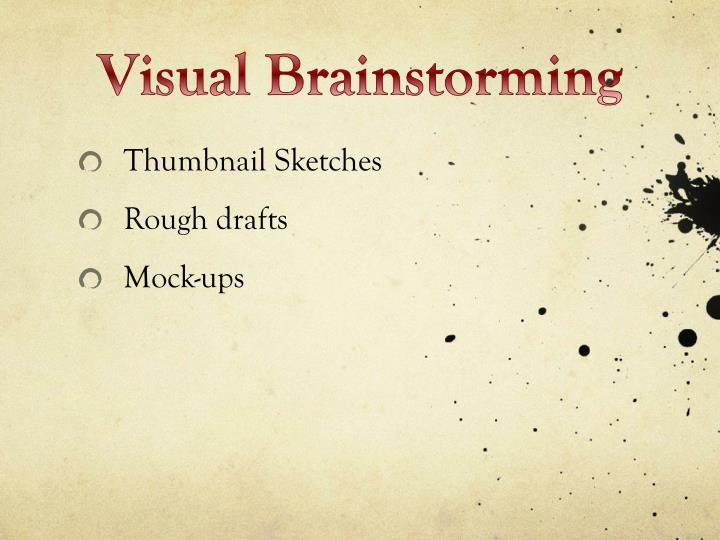 Visual Brainstorming