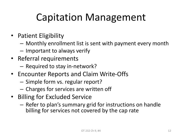 Capitation Management