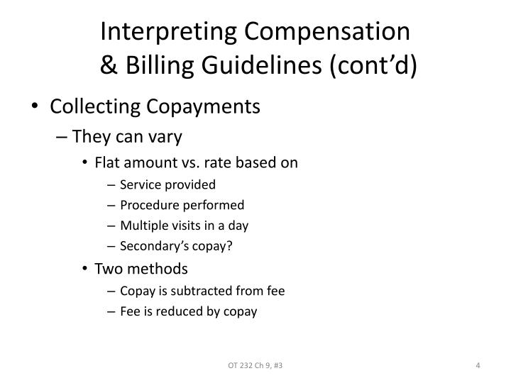 Interpreting Compensation