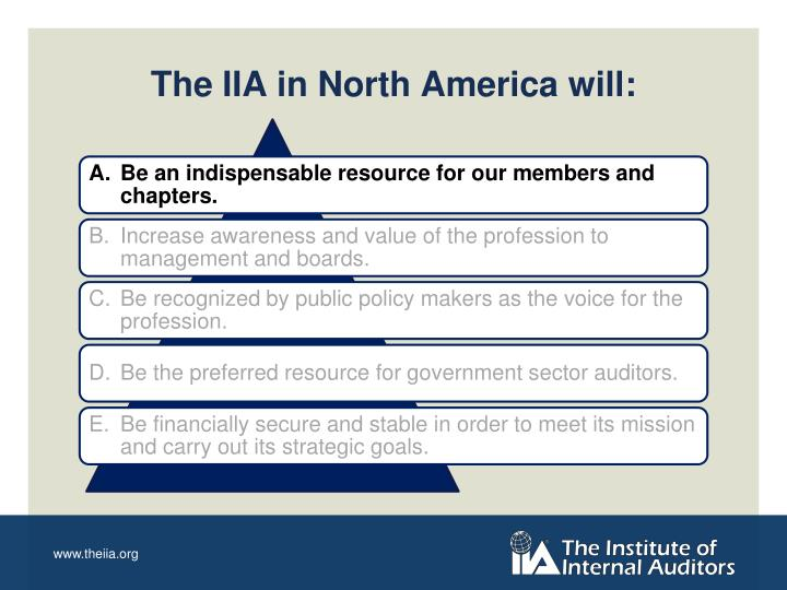 The iia in north america will