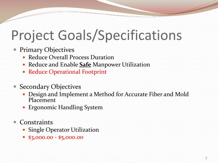Project Goals/Specifications