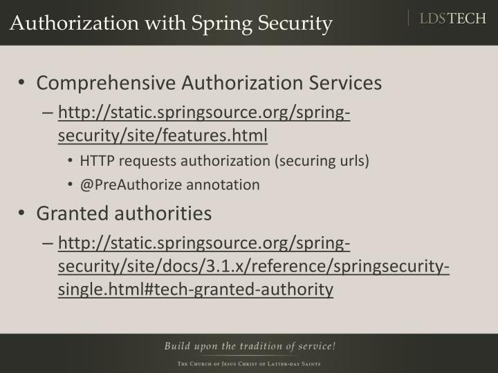 Authorization with Spring Security