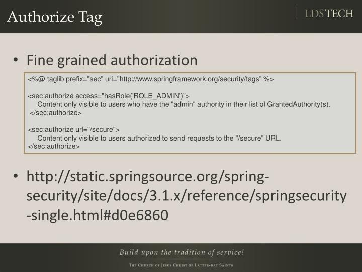 Authorize Tag