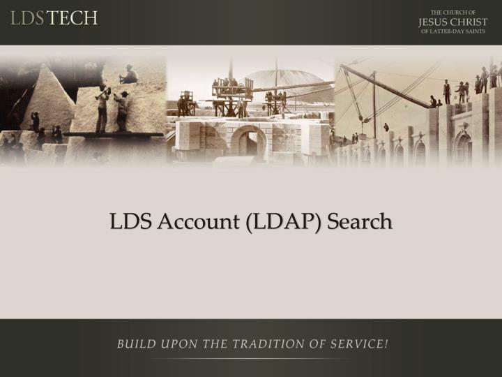 LDS Account (LDAP) Search