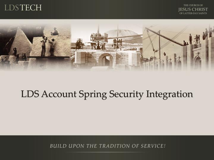 LDS Account Spring Security Integration