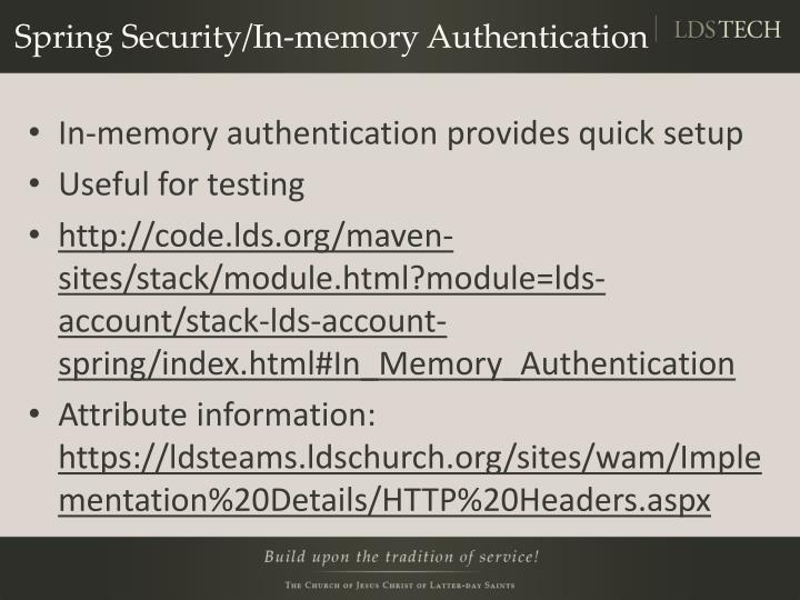 Spring Security/In-memory Authentication