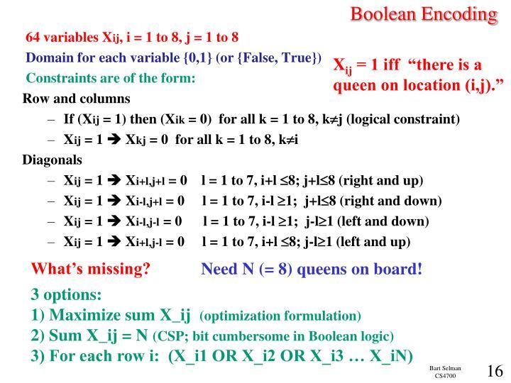 Boolean Encoding
