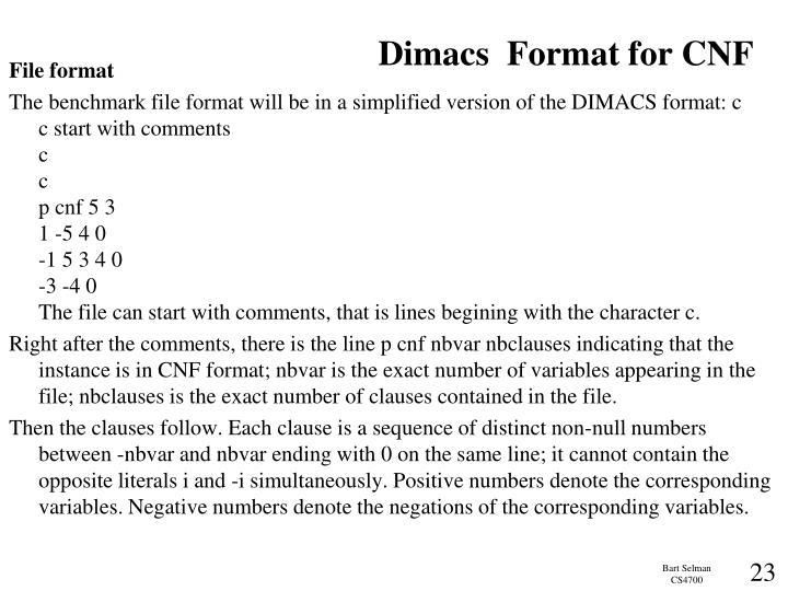 Dimacs