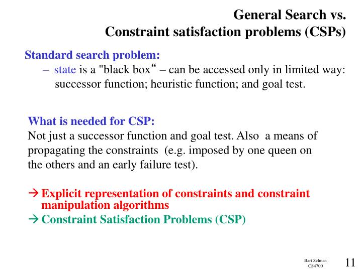 General Search vs.