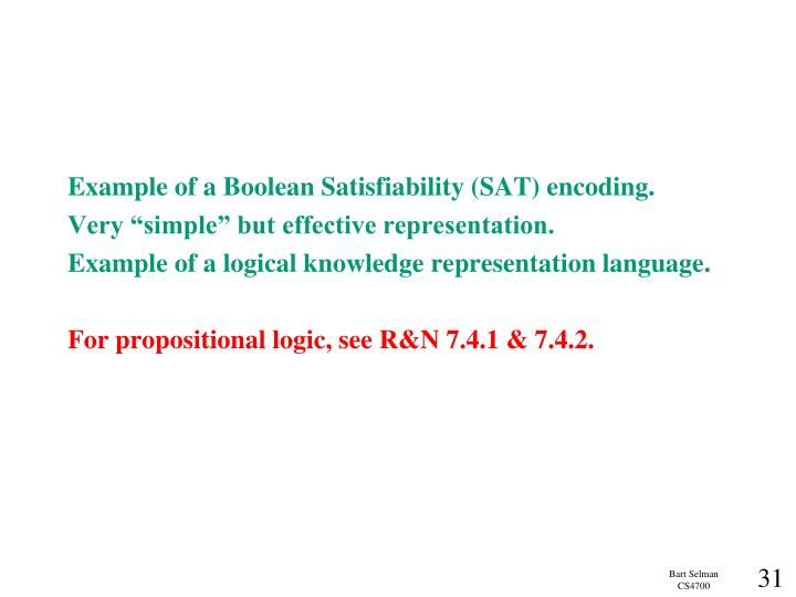 Example of a Boolean