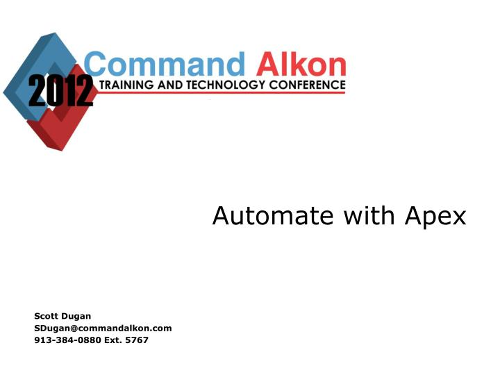 Automate with apex