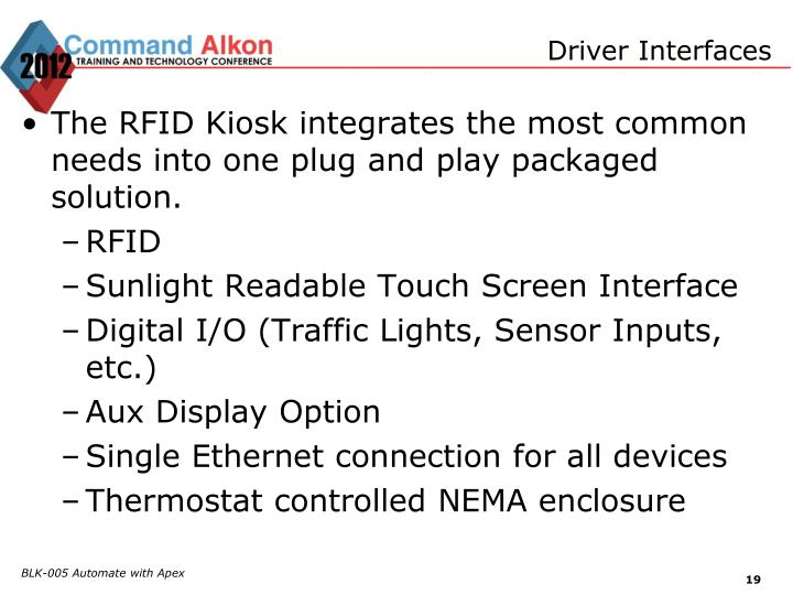 Driver Interfaces