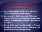 does the bible have anything to say about america s national role1
