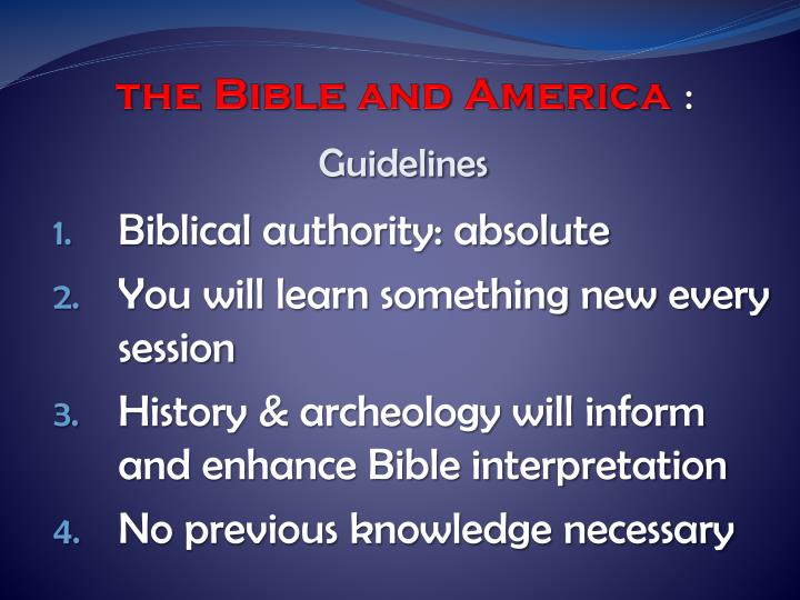 The bible and america1