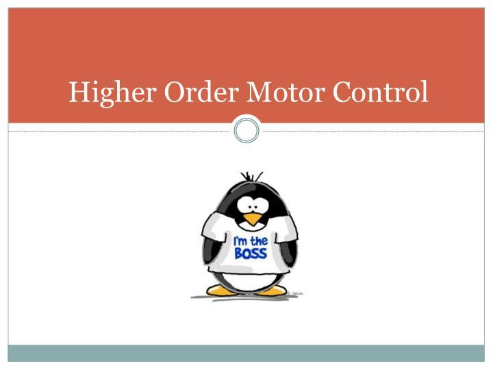 Higher Order Motor Control