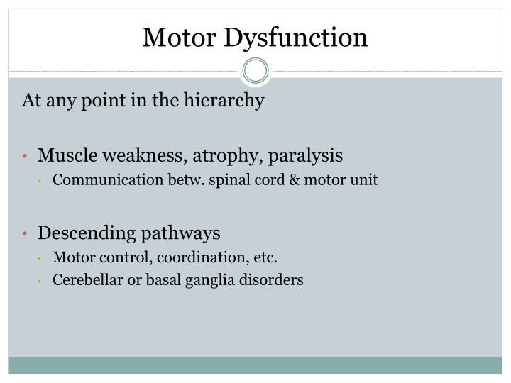 Motor Dysfunction