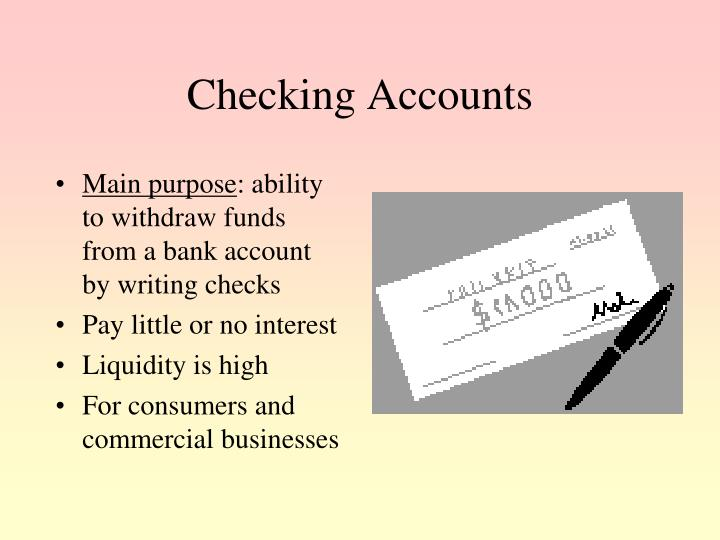 Checking Accounts