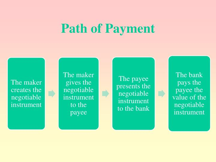 Path of Payment