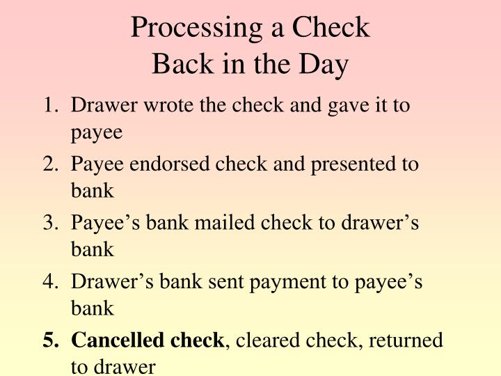 Processing a Check