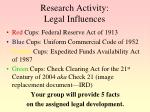 research activity legal influences