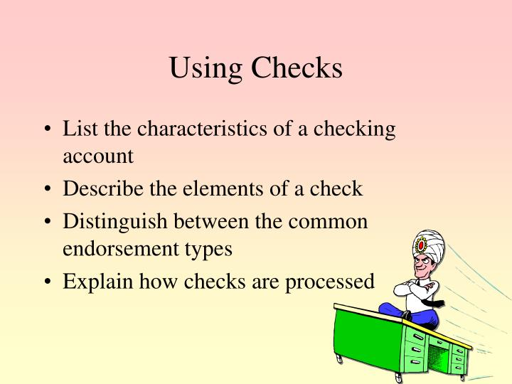 Using Checks