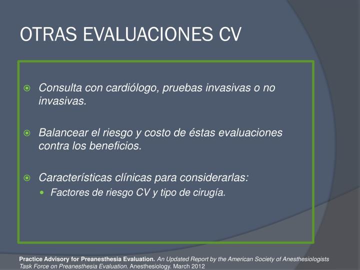 OTRAS EVALUACIONES CV